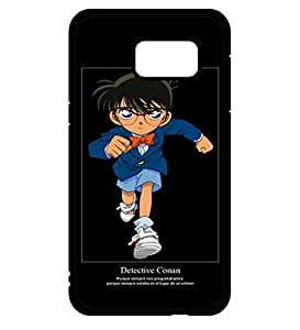 Detective Conan Funda Case Cover para Samsung Galaxy S6 Edge Plus (Not Fit para S6/S6 EDGE) Hard Durable Anti Dust Durable Printed Funda Case