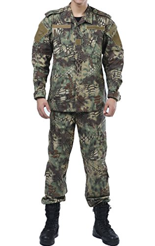 Animal Woodland Camo ACU Combat Coat Pant Uniform Sets Ripstop by XinAndy Military