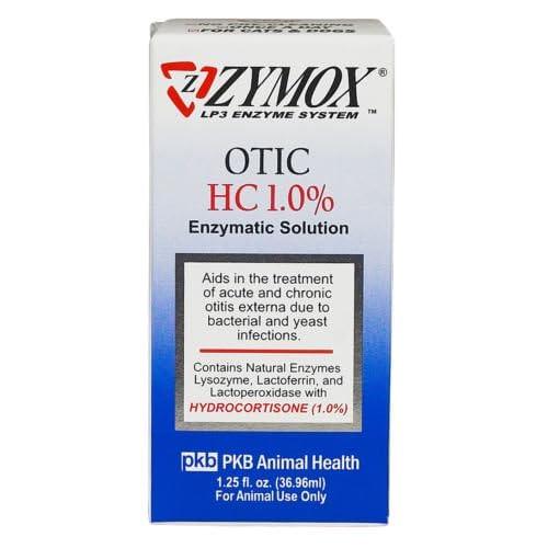 ZYMOX OTIC 1 25 fl  oz with Hydrocortisone 1 0 % Dog Cat Ear