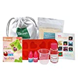 kiss naturals bath bombs - diy kids crafts kit - 100% natural and organic bath bomb kit for kids