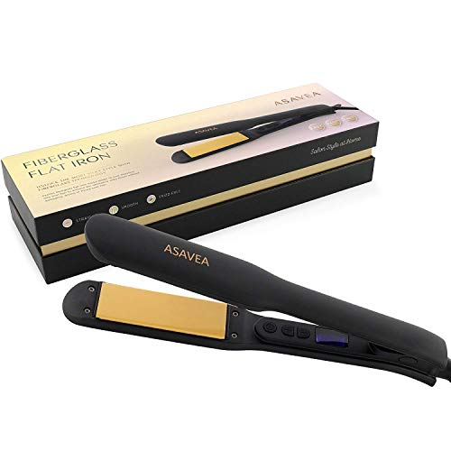 AsaVea Flat Iron Ceramic Tourmaline Ionic Hair Straightener,...