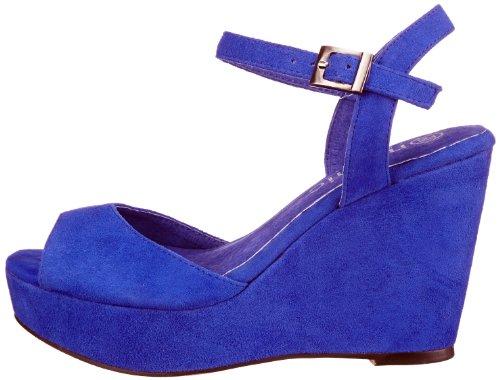 Wedge Cuero blau Copenhagen Para Pulsera Mujer Zapatos M131609 Mimic electric Azul Blue De Suede ETgqxS