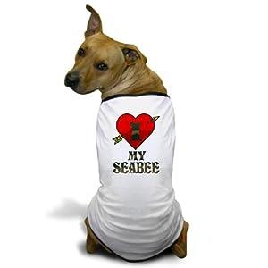 CafePress - I LOVE MY SEABEE Dog T-Shirt - Dog T-Shirt, Pet Clothing, Funny Dog Costume by CafePress