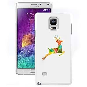 Fashion Custom Designed Cover Case For Samsung Galaxy Note 4 N910A N910T N910P N910V N910R4 Phone Case With Colorful Reindeer Jump Illustration_White Phone Case