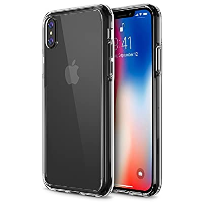 iPhone X Case, Trianium [Clarium Series] iPhone X Clear Case w/ Reinforced TPU Bumper Hybrid Cushion +Scratch Resistant / Enhanced Hand Grip / Hard Back Panel Cover for Apple iPhone X / 10 Phone 2017 by Trianium