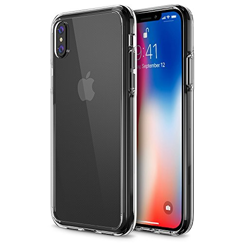 iPhone X Case, Trianium [Clarium Series] iPhone X Clear Case w/Reinforced TPU Bumper Hybrid Cushion +Scratch Resistant/Enhanced Hand Grip/Hard Back Panel Cover for Apple iPhone X/10 Phone 2017