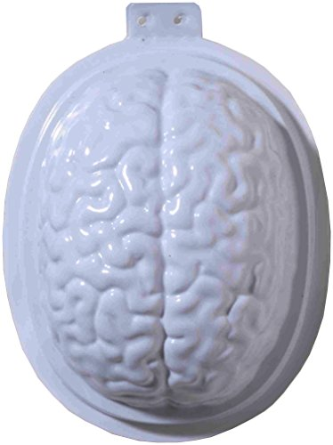 Forum Novelties 2 Piece Brain Gelatin Mold, White