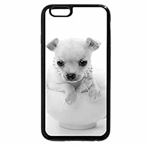 """iPhone 6S Case, iPhone 6 Case (Black & White) - Teacup Pup In A Cup """"Tina"""""""