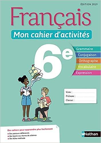 Francais Mon Cahier D Activites 6e Amazon Fr Stephanie