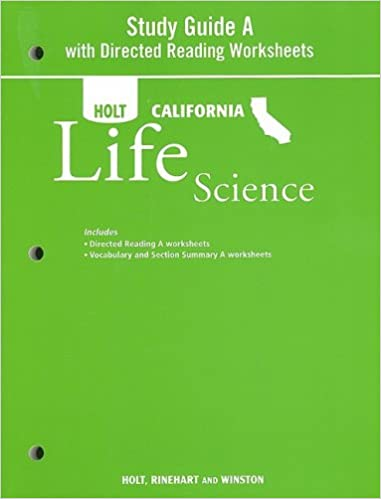 Printables Holt Science And Technology Worksheets holt science technology california study guide a with directed reading worksheets grade 7 life 1st edition
