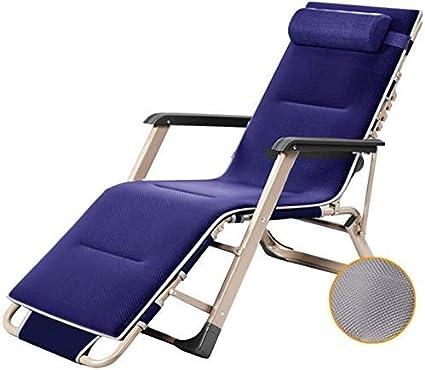 Yuany - Silla de jardín reclinable, sillón, silla individual acolchada, silla de jardín a balancín silla relax, tumbona de sol