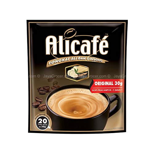 10 Pack Alicafe Tongkat Ali and Ginseng 5 in 1 Premix Coffee Original Imported from Malaysia (10 x 20 Sachets) Free Express Delivery
