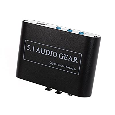 Panlong ® 5.1 Audio Gear Digital Sound Decoder Converter - Optical SPDIF/ Coaxial Dolby AC3 DTS to 5.1CH Analog Audio