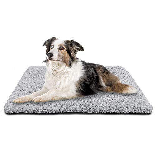 SIWA MARY Dog Bed Crate Pad Mat 30/36/42 in Anti Slip Washable Mattress Pets Kennel Pad for Large Medium Small Dogs…