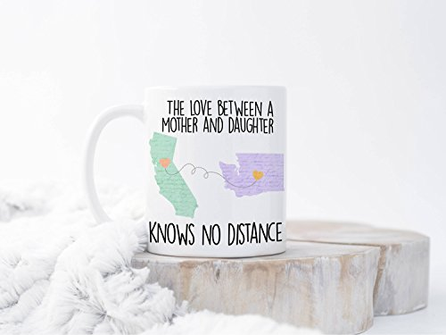 Moving Away Mug, Moving Mug For Mom, Christmas Gift For Mom, Connecting States Mug, State To State Mug, Long Distance Mug For Mother, 11oz, 15oz, gift