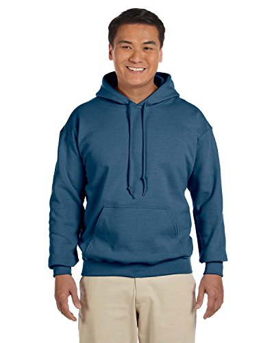 Gildan Mens Heavy Blend Hooded Sweatshirt, XL, Indigo Blue (Cyber Monday Washer And Dryer Deals 2017)
