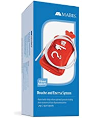 MABIS Douche, Enema and Hot Water Bottle Combination, Red