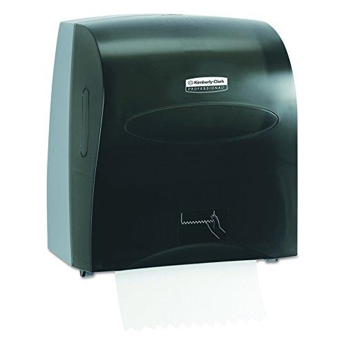 Scott Slimroll Hard Roll Paper Towel Dispenser, Touchless, Pull Towel (10441), Smoke / Black (Scott Towel Dispenser Paper)