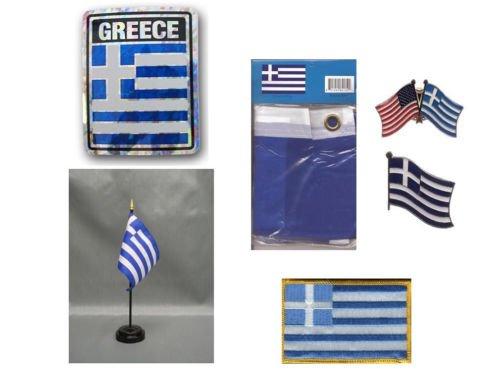 Moon Greece Heritage Flag Set  - Bright Color UV Resistant -