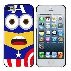 Cute Adorable captain america minion Red Blue And White iphone 4/4s Case by Maris's Diary