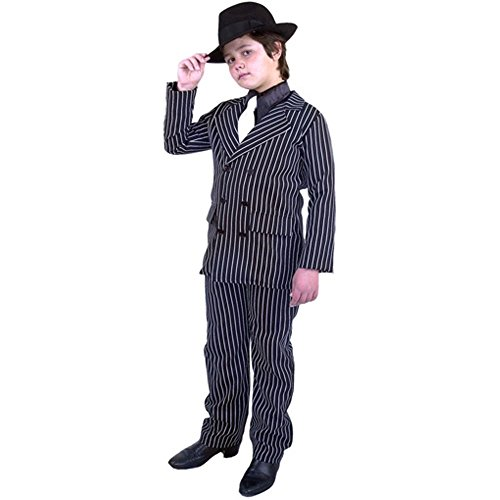 [Child's Gangster Suit Costume (Size:Large 10-12)] (Gangster Costumes For Halloween)