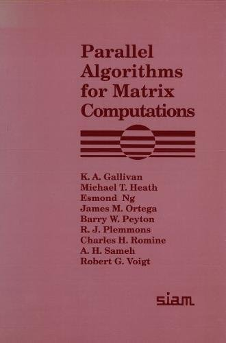 Parallel Algorithms for Matrix Computations