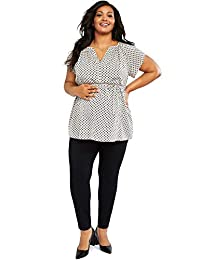 Motherhood Maternity Womens Plus-Size Super Stretch Secret Fit Belly Skinny Work Pant Business Casual Pants
