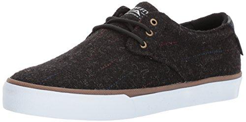 Lakai Daly Skate Shoe, Black Textile, 8.5 M US by Lakai