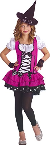 Costumes Girls Fancy Spice Dress (Girls Sugar N Spice Witch Kids Child Fancy Dress Party Halloween Costume, S)
