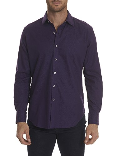 Robert Graham Windsor 2 L/S Woven Black (3Xlarge, Berry) from Robert Graham
