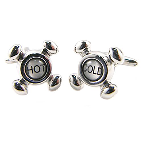 Cold Faucet Cufflinks - Hot and Cold Faucet Cufflinks