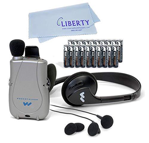 ELITE PACKAGE: PockeTalker Ultra w/ Headphone & FREE Dual Earbuds & FREE Year Supply of Batteries