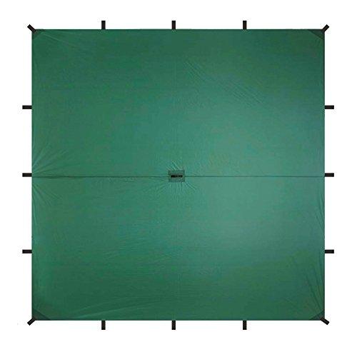Aqua Quest Guide Tarp - 100% Waterproof Ultralight Ripstop SIL Nylon Backpacking Rain Fly - 10x10 Green