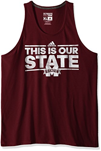 (NCAA Mississippi State Bulldogs Adult Men Dassler Tactical Climalite Ultimate Tank,Large,Maroon)