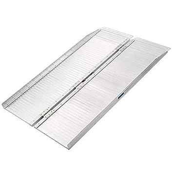 Aluminum Folding Ramps >> Amazon Com Gharpbik Portable Aluminum Folding Ramp With Carry