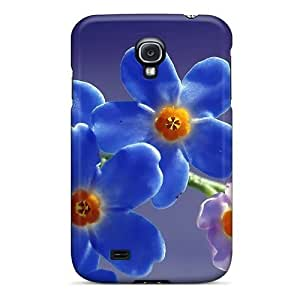 New Shockproof Protection Case Cover For Galaxy S4/ Forget Me Blue Macro Case Cover