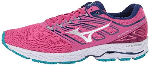 Correr Mujer Fuchsia Running Women's Mizunomizuno Zapatilla Shoes Mizuno tile Shadow De Wave silver Para Blue Purple pw8vxq1