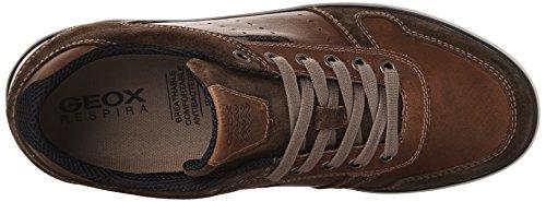 Geox U Box C, Zapatillas para Hombre Marrón (Browncotto/Brownc0235)