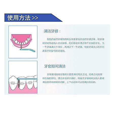 Cleanpik L formas Limpieza Interdental Cepillo Interdental 0.8 MM Dental Cepillos Cepillo Oral Care cepillo de...