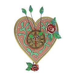 Allen Designs Love Blooms Whimsical Heart Pendulum Wall Clock