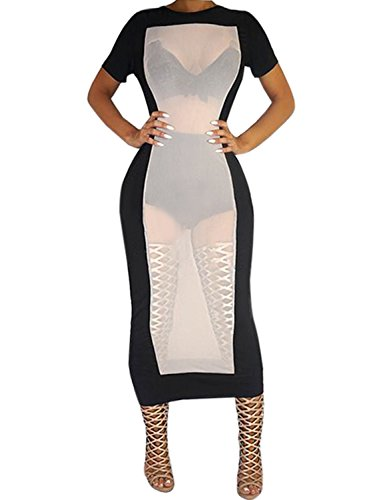 Sedrinuo Womens Sexy Bodycon Party Club Dress