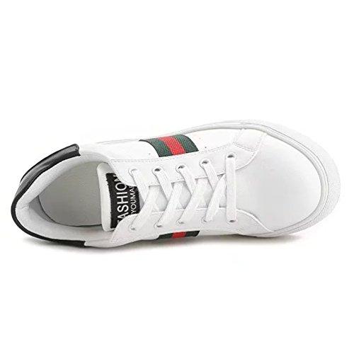 Damen Weiß Wedges Sportschuhe Schnürer Sneaker Keilabsatz Sportlich Low Top rqw4rT8
