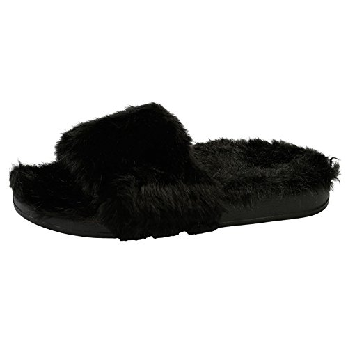 f9d478f8ca69 Feet First Fashion Sorrel Womens Flat Slip On Fur Sliders  Amazon.co.uk   Shoes   Bags