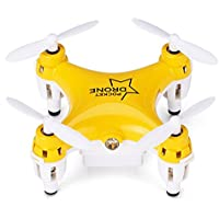Chinatera Mini RC Drone with 3D Flip 2.4Ghz 6-Axis Gyro RC Quadcopter Toys for Christmas Gift (Yellow)