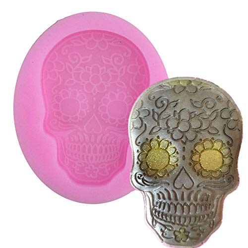 2 Pack Gothic Skull Silicone Mold Halloween Fondant Cake Molds Cupcake Mould Chocolate Kitchen Accessories for $<!--$19.99-->
