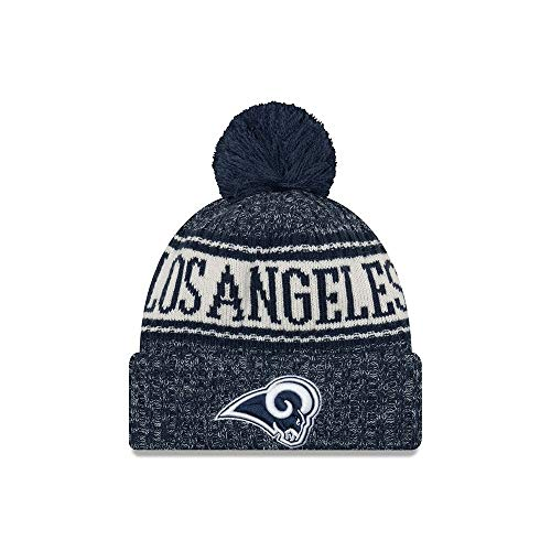 3acead8bd48 Los Angeles Rams Pom Hat. New Era Authentic Los Angeles Rams Sport Knit NFL  ...
