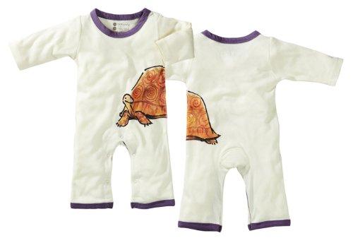 Babysoy Baby Girls' Janey Baby One Piece Bodysuit, Tortoise, 12 18 Months
