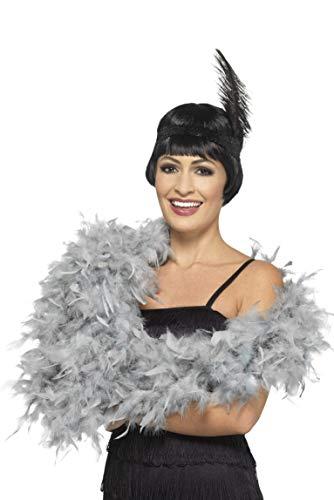 Smiffy's 180cm Silver Feather Boa One Size