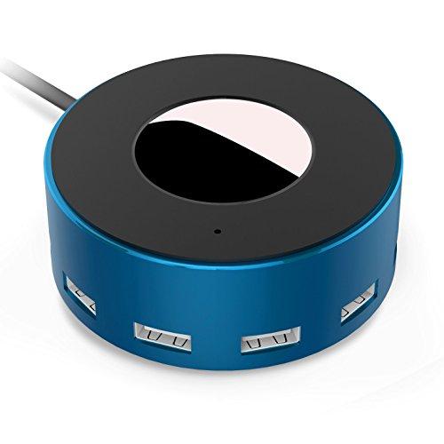 Vogek 6-Port USB Charger Desktop Charging Station with Smart Identification (Blue-Black) by Vogek
