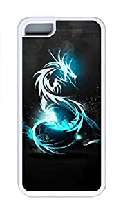 iPhone 5C Case, Personalized Custom Rubber TPU White Case for iphone 5C - Dragon Cover